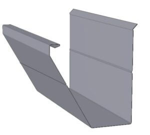 Diagram of a Omni fascia gutter