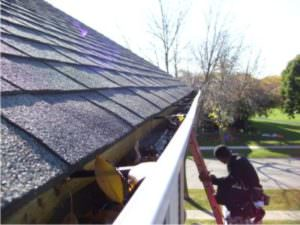 Top view of Omni gutter system