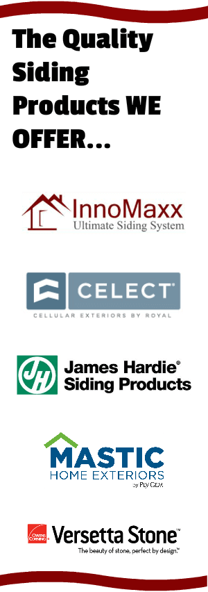 List of Chicago Siding Products we offer