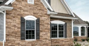 Veretta Stone fiber cement wall covering