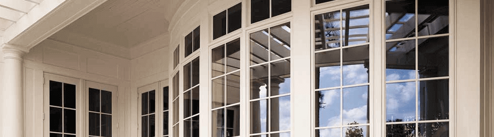outside of new windows by Pella