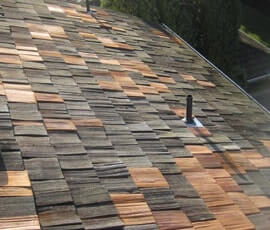 Different color shingles