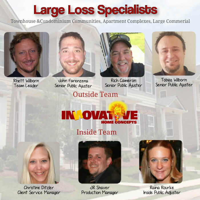 our team of hail damage specialists working with property managers