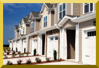 townhouse complex with homeowners association