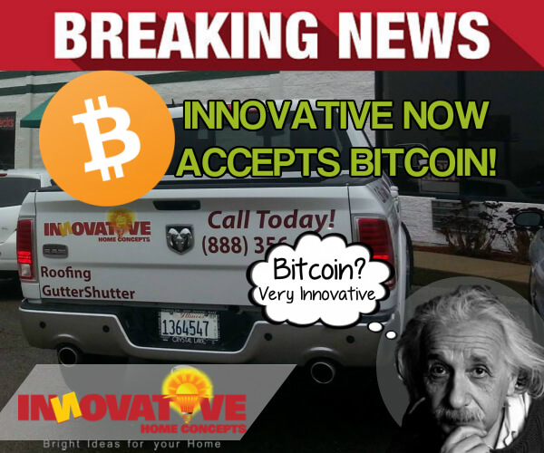 Innovative Contractor accepts bitcoin payments