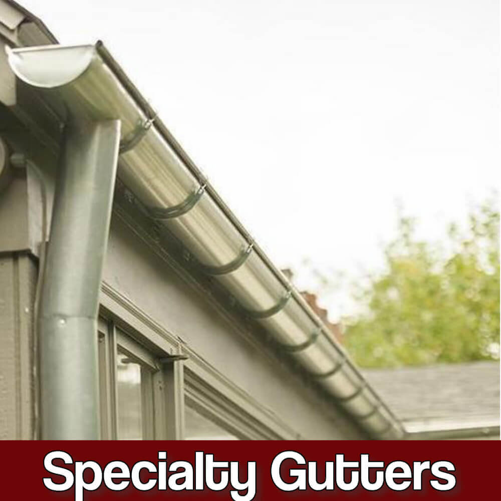 custom fabricated residential gutter systems