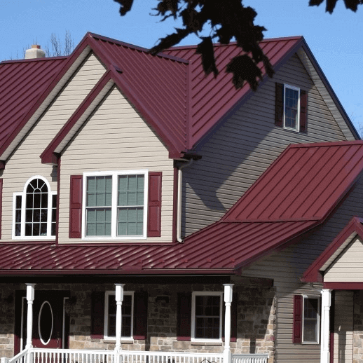 Standing Seam Metal Roof on Residential home