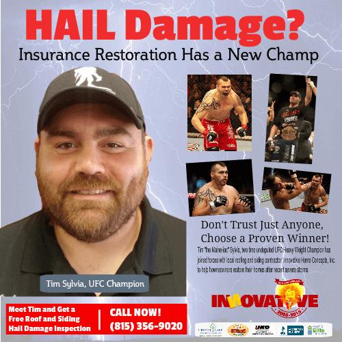 Make an insurance claim for storm damage
