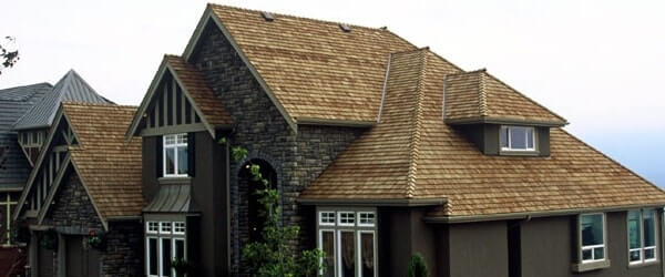 A picture of a new roof on a house