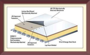 diagram of commercial roof layers
