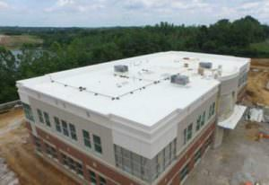 commercial building from aerial photo