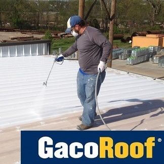 man roof coating with gaco product