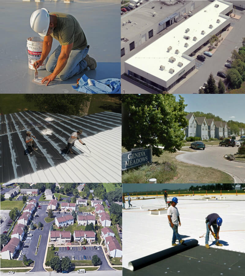 roofing projects montage - commercial roofer